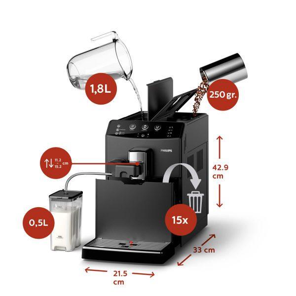מכונת קפה Philips 3000 HD8829 EasyCap 2